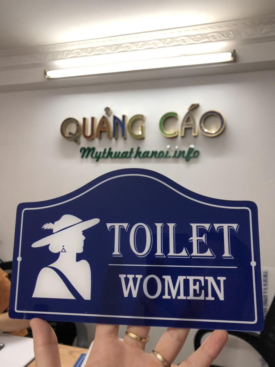 Biển toilet- biển WC