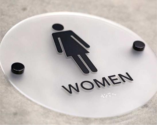 Biển toilet nữ