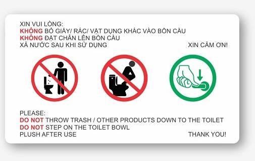 biển báo trong nhà vệ sinh