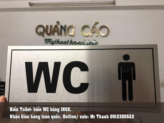Biển nhà vệ sinh giá rẻ- inox