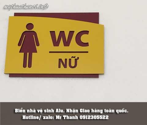 biển nhà vệ sinh nữ bằng aluminium